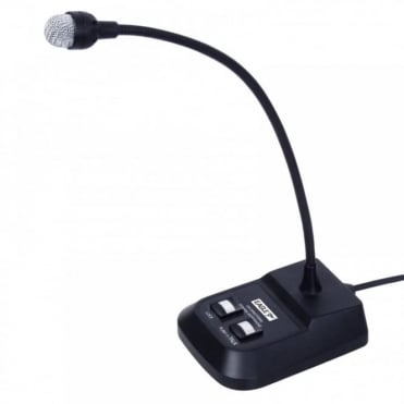 Professional Desktop Dynamic Gooseneck Paging Microphone Mic 6.35mm Jack