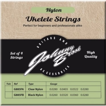 Set of 4 High Quality Clear Nylon Ukulele Strings