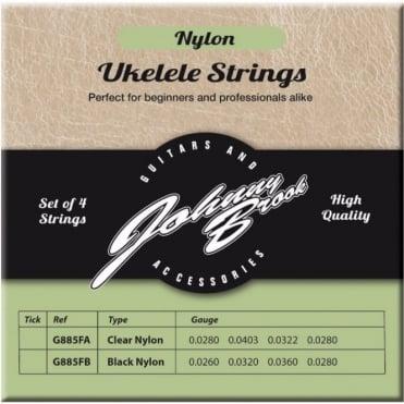 Set of 4 High Quality Clear Nylon Ukulele Strings