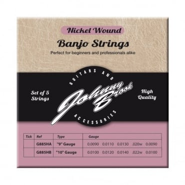 Set of 5 High Quality Nickel Wound Banjo Strings
