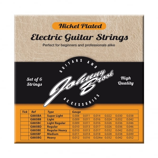 set of 6 high quality nickel plated electric guitar strings. Black Bedroom Furniture Sets. Home Design Ideas