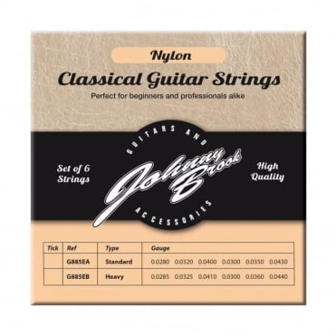 Set of 6 High Quality Nylon Classical Guitar Strings