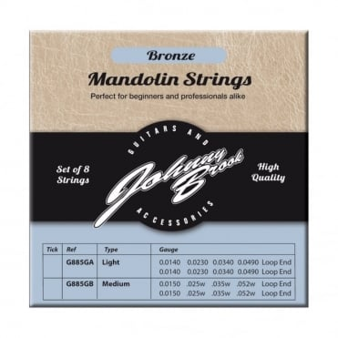 Set of 8 High Quality Bronze Mandolin Strings
