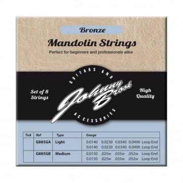 Set of 8 High Quality Bronze Mandolin Strings