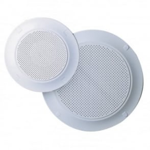 "White Plastic Circular Ceiling Speaker Grills 4"" & 8"" Grill Versions"
