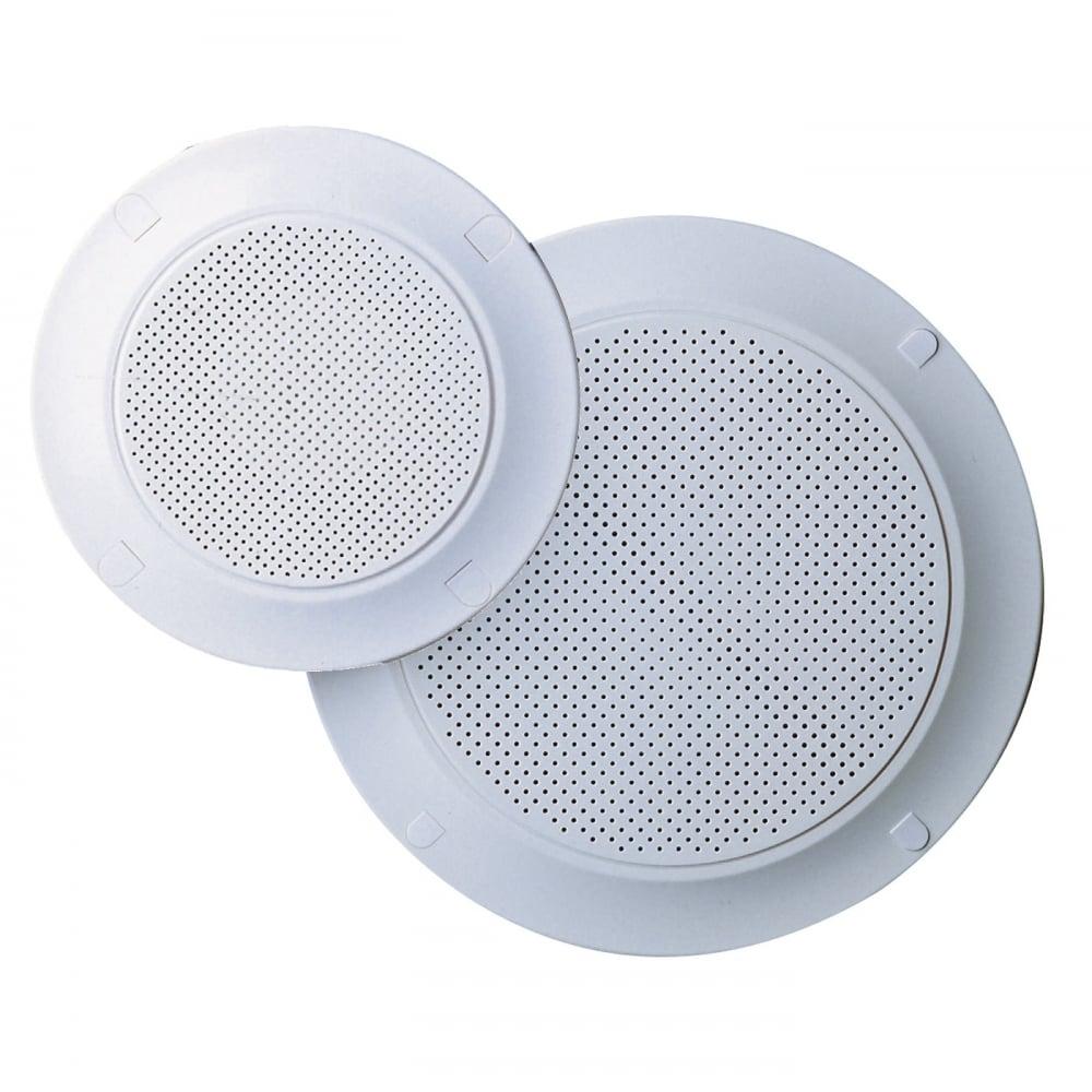"""Eagle & Altai White Plastic Circular Ceiling Speaker Grills 9"""" & 9"""" Grille  Versions"""