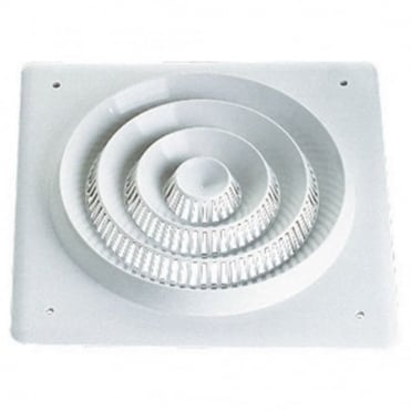 "White Plastic Square Ceiling Speaker Grill For 8"" 200mm Driver"