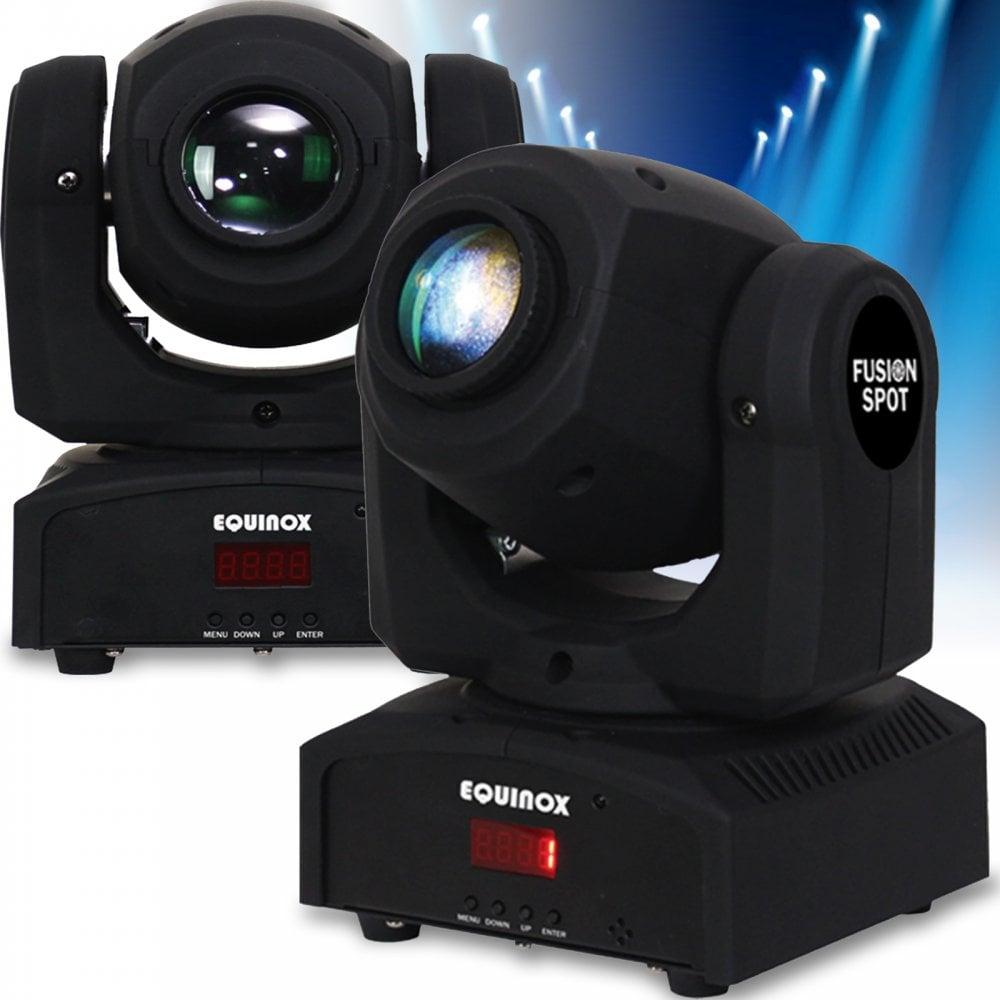 2 x DJ Fusion Spot Mk II LED DMX Pocket Moving Head Lighting Effect Disco FX