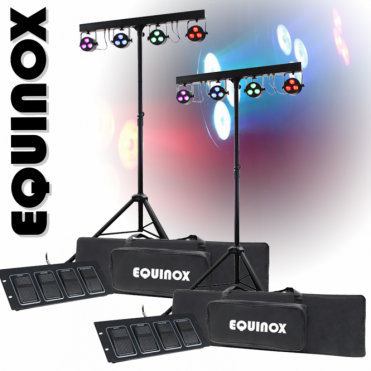 2 x Quad Colour Par Bar Mobile Stage 12 x 8w LED Lighting System Bands Party DJ