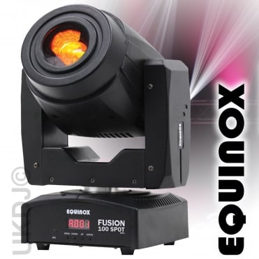 Black Fusion Spot 100 80w LED Lighting FX DMX Moving Head 3 Facet Prism *DEMO STOCK*