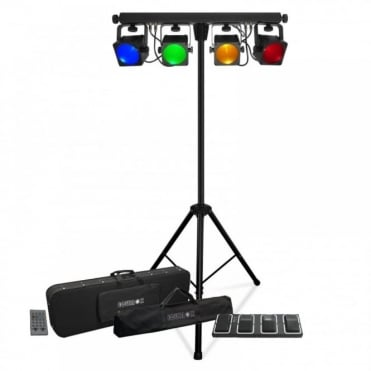 Giga Bar 4 COB Core LED Tri Colour RGB 30W Lamps Stage Wash Lighting System