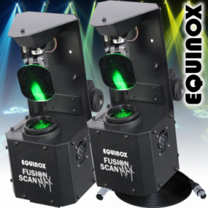 Equinox 2 x Fusion Scan MAX 30W LED DMX DJ Lighting Effect 0-100% Dimming & Variable Strobe