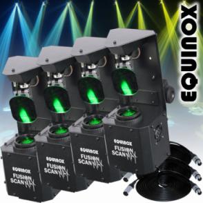 4 x Fusion Scan MAX 30W LED DMX DJ Lighting Effect 0-100% Dimming & Variable Strobe