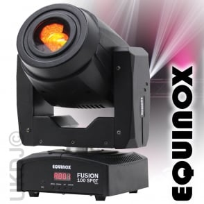 Equinox Black Fusion Spot 100 80w LED Lighting FX DMX Moving Head 3 Facet Prism