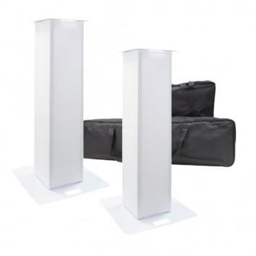 DJ Truss Glo Totem (Pair) 1.0M Aluminum Lighting Tower Podium Kit inc Cases