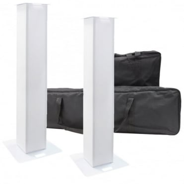 DJ Truss Glo Totem (Pair) 1.5M Aluminum Lighting Tower Podium Kit inc Cases