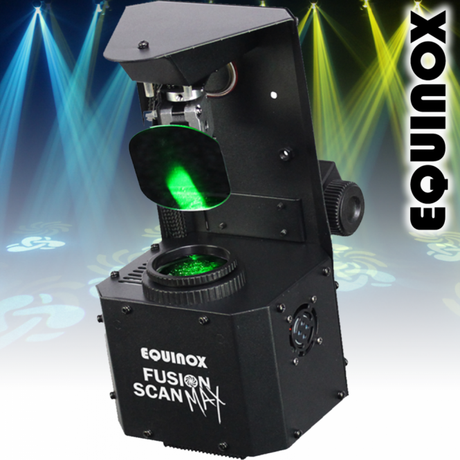 Equinox Fusion Scan MAX 30W LED DMX DJ Lighting Effect 0-100% Dimming & Variable Strobe