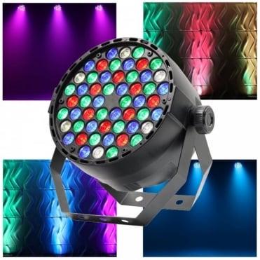 MidiPar 54 x 1W RGB+W LED DMX 100% Dimming Wash Light DJ Lighting