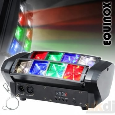 Onyx Compact 8 x 3w RGBW Multicolour Sweeping Beam DMX Lighting Effect Micro Glide