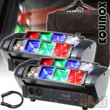 Onyx Compact 8 x 3w RGBW Sweeping Beam Lighting Effect Disco FX Package