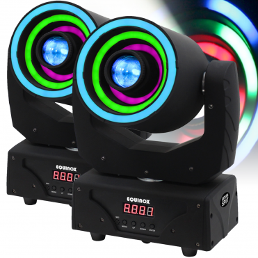 Pair of Saturn Spot Wash Hybrid 30W HP LED Moving Head GOBO Beam DMX