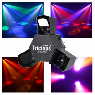 Triclops 3 Mirror Scanner LED Beam DMX Lighting Effect