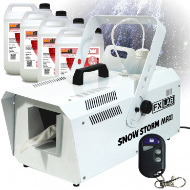 1200w High Output Snow Machine Artificial Snowflake inc Remotes & 20L Fluid