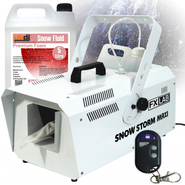 1200w High Output Snow Machine Artificial Snowflake inc Remotes & 5L Fluid