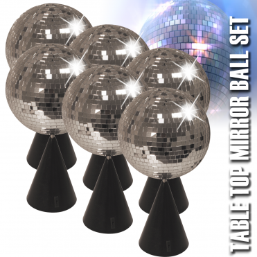 6 x Table Centre Piece - Rotating Mirror Balls - Wedding Birthday Party Decoration