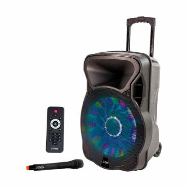 "Battery / Mains Sound System Play 12"" 700w USB Bluetooth Karaoke DJ Inc Radio Mic"