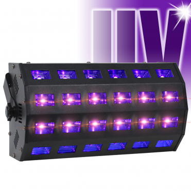 UV LED Flood Light LED-UV24 High Power Ultraviolet Blacklight DMX DJ Party