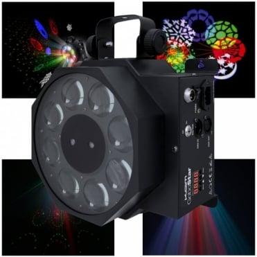 Gobostar 3w LED Sweeping Gobo Effect & 130mW Star Cluster Laser Light DMX