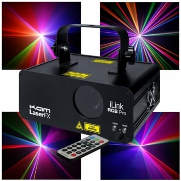 iLink RGB Professional 300mW Club Coloured Laser FX DJ Light Effects inc Remote