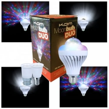 Moonbulb DUO LED Rotating Bulb Disco Party Lighting Effect