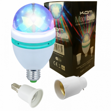 Moonbulb LED Lighting FX Crystal Dome Disco Effect Party Bulb Lamp