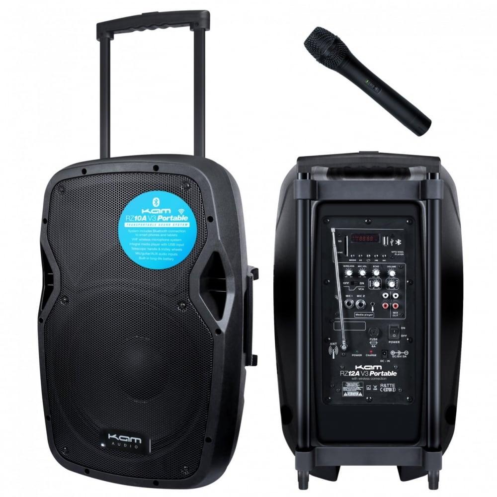 kam rz10a v3 portable pa system intergral handheld vhf mic. Black Bedroom Furniture Sets. Home Design Ideas