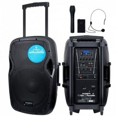 RZ12A V3 Portable PA System Intergral Handheld Headset VHF Mics inc USB SD & Bluetooth