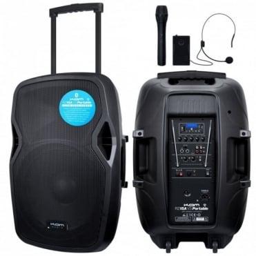 RZ15A V3 Portable PA System Intergral Handheld Headset VHF Mics inc USB SD & Bluetooth