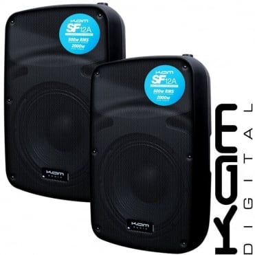 "SF12A 12"" Sound Force 500w RMS Active Speaker with Line/Mic Inputs (PAIR)"