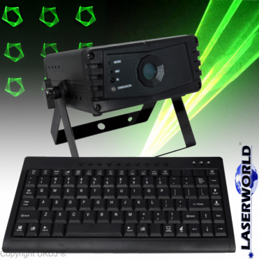 EL-200G KeyTEX Text Setting Green Laser Inc Keyboard 200mw DPSS USB