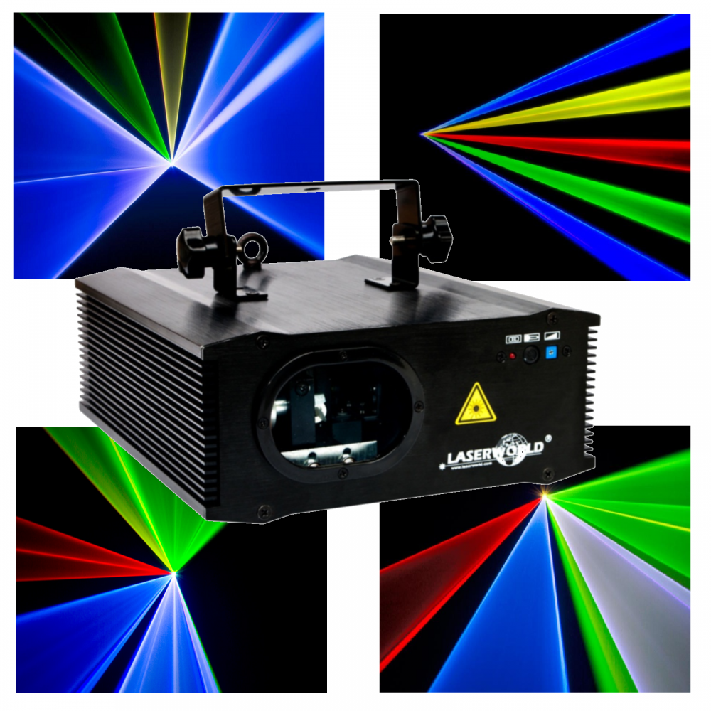 Multi Colour RGB Laser with Ultra Bright Royal Blue and Fast 30kpps Galvo  System