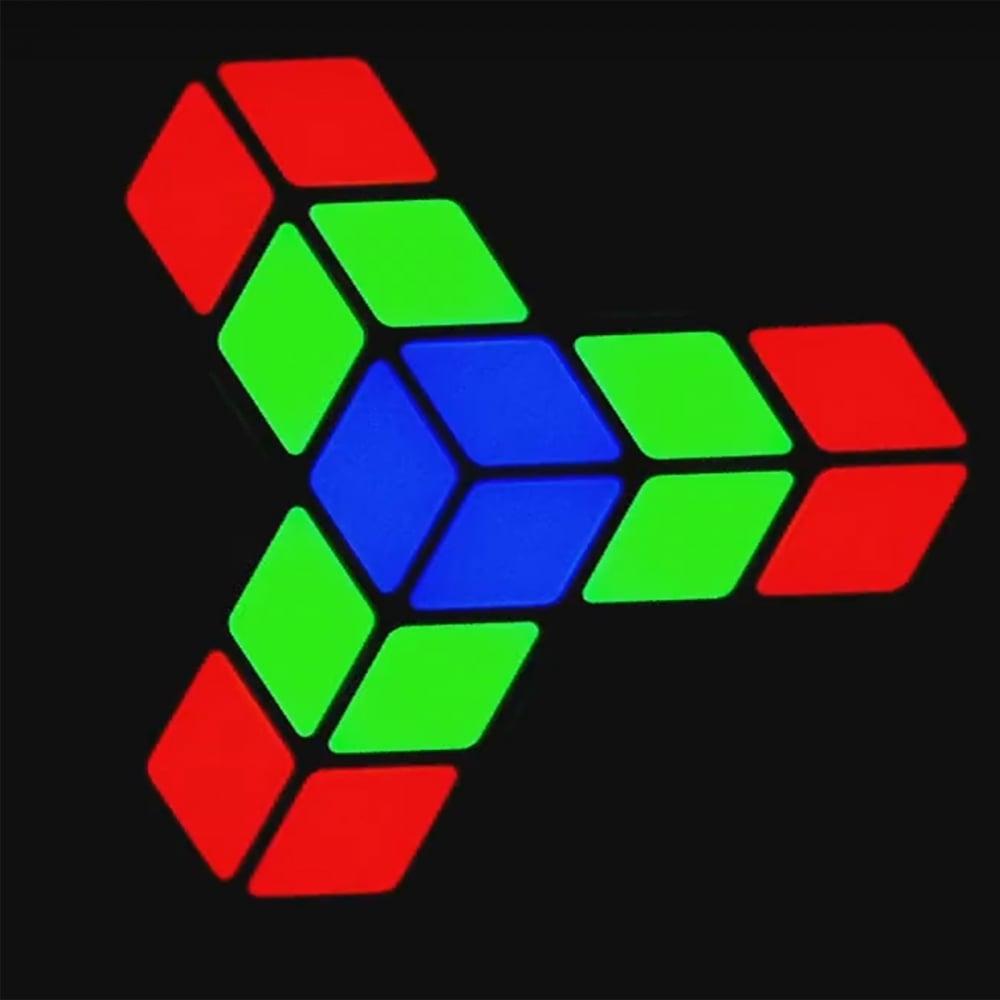 2x Rubix RGB 3D RGB LED Panel Effects DJ Disco + 3 CD Retro 80s Night Music  Pack