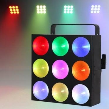 Mini Pix 9 Panel 3x3 9w Tri-Coluor COB LED RGB DMX Linking Wash Lighting Effect