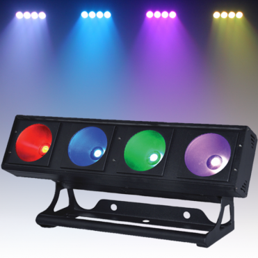 Tri 4 Pixel Batten 4 x 30w Tri COB LED RGB DMX Pixel Flood Lighting Effect