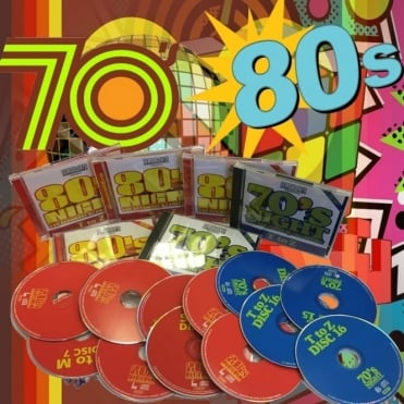 70's & 80's Night CD Box Collection 12 Cd's 232 Tracks, Biggest Hits