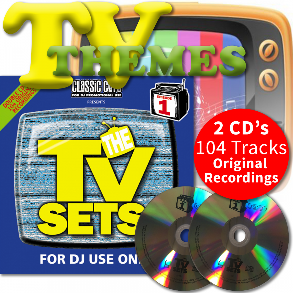 Classic Cuts Presents TV Sets Vol 1 & 2 Double CD - Themes From 70s 80s &  90s