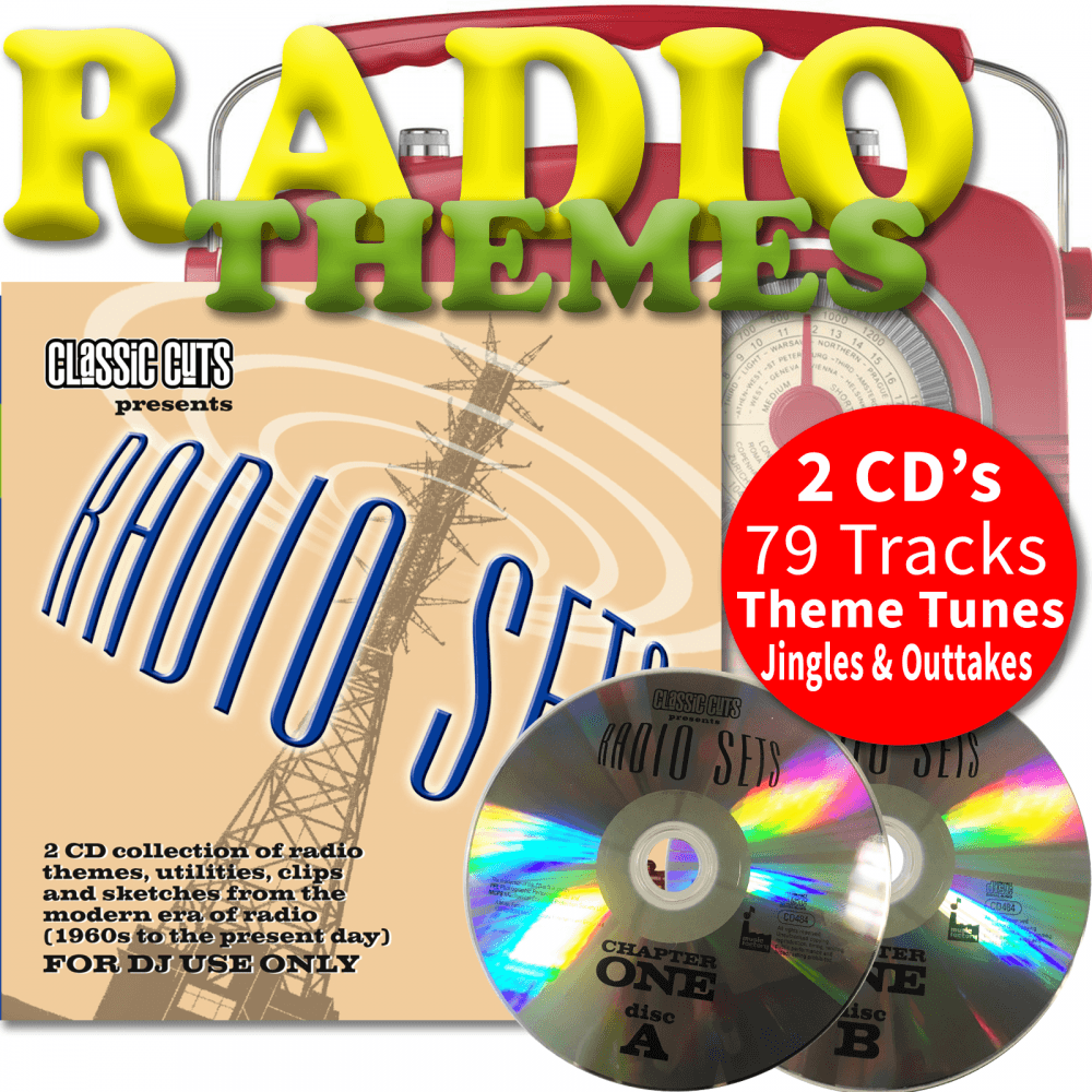 Classic Cuts Radio Sets Vol 1 & 2 Double CD Radio Theme Tunes Jingles &  Outtakes