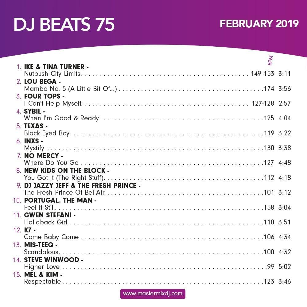 Mastermix DJ Beats Vol 75 Party Music CD