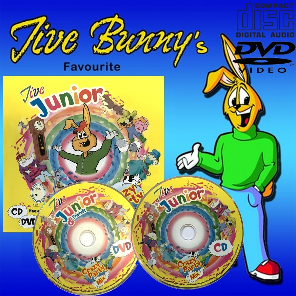 Jive Junior Crazy Party Mix Music CD and DVD - 62 Track Nursery Rhymes