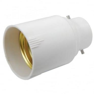 Lamp Socket Converter Beyonet B22 Plug to Screw E27 Socket